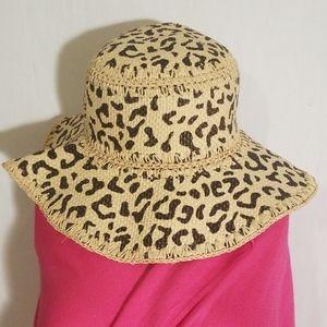 Natural Animal Print Floppy Sun Hat